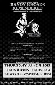 Randy Rhoads Remembered poster
