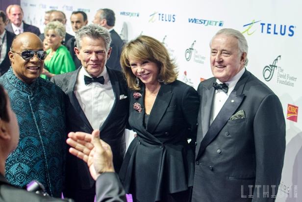 Stevie Wonder, David Foster, Mila and Ben Mulroney