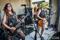 The Dead Deads perform on the beach at Great Stirrup Cay Motorboat beach party
