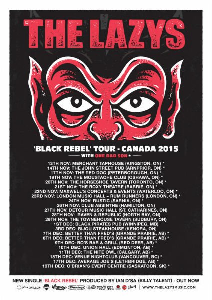 THE-LAZYS-BLACK-REBEL-CANADA-POSTER