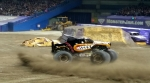 Monster Mutt Rottweiler doing donuts