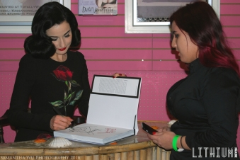 Dita continues her book signing for fans