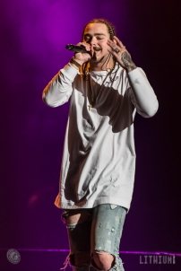 16-05-18 - Toronto - Canadian pop superstar JUSTIN BIEBER brought his Purpose Tour to the Air Canada Centre. Opening the show was POST MALONE and MOXIE RAIA. Pictured: Post Malone. (c) 2016 - Darren Eagles Photography