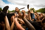 MONTREAL, QUE.: August 6, 2016-- Dillinger Escape Plan perform during the first day of the 2016 Heavy Montreal festival at Parc Jean Drapeau on Saturday August 6, 2016. (Tim Snow / EVENKO MANDATORY CREDIT)