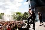 MONTREAL, QUE.: August 6, 2016-- Fear Factory perform during the first day of the 2016 Heavy Montreal festival at Parc Jean Drapeau on Saturday August 6, 2016. (Tim Snow / EVENKO MANDATORY CREDIT)