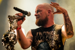 MONTREAL, QUE.: August 6, 2016-- Five Finger Death Punch perform during the first day of the 2016 Heavy Montreal festival at Parc Jean Drapeau on Saturday August 6, 2016. (Tim Snow / EVENKO MANDATORY CREDIT)