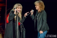 Stevie Nicks performs at The Air Canada Centre in Toronto along with Chrissie Hynde.